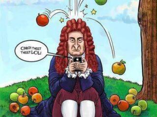 Jangan Terlalu Serius, Berpikirlah Seperti Newton